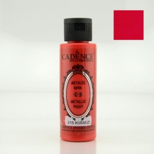 215 Red 70ML Metalik Boya